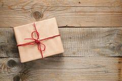 Взгляд сверху подарочной коробки Стоковое Изображение