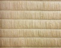 Взгляд сверху предпосылки текстуры циновки Tatami японской отсутствие градиента l Стоковая Фотография