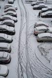 Взгляд сверху припаркованного автомобиля Стоковые Изображения