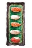 Взгляд сверху плиты суши изолированной на белизне Стоковая Фотография RF