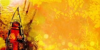 Взгляд сверху роскошной гондолы Предпосылка Венеции Стоковые Изображения RF