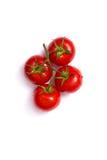 Взгляд сверху свежих томатов Стоковое Изображение RF