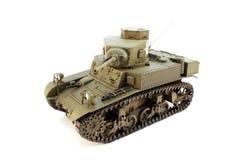 Взгляд сверху светлого танка M3 модели стоковые изображения rf