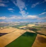 Взгляд сверху сельской местности Стоковые Фотографии RF