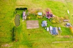 Взгляд сверху сельской местности стоковые изображения rf