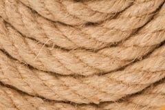 Взгляд сверху спирали веревочки Стоковая Фотография RF