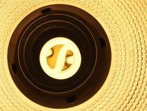 Взгляд сверху спиральной лампы стоковая фотография