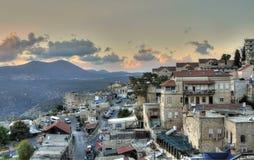 Взгляд сверху старого города - ZEFAT Стоковые Фото