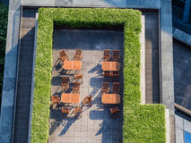 Взгляд сверху террасы café Стоковые Фотографии RF