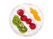 Взгляд сверху торта флана свежих фруктов Стоковое Фото