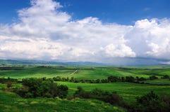 Взгляд сверху тосканского ландшафта Стоковое Изображение RF