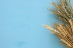 взгляд сверху урожая пшеницы Символы еврейского праздника - Shavuot стоковое фото