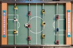 Взгляд сверху футбола таблицы стоковые фото