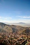 Взгляд сверху центра города Brasov стоковые изображения rf