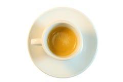 Взгляд сверху чашки кофе Стоковое Изображение