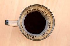 Взгляд сверху чашки кофе Стоковая Фотография