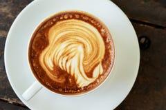Взгляд сверху чашки кофе стоковые изображения