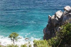 Взгляд сверху Чёрного моря, Simeiz, Крыма Стоковая Фотография