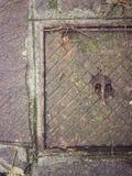 взгляд сверху люка -лаза Стоковая Фотография
