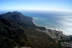 взгляд сверху Atlantic Ocean Стоковые Изображения RF