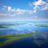 Взгляд сверху floodland Стоковые Изображения