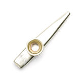 Взгляд сверху Kazoo изолированное музыкальным инструментом стоковая фотография