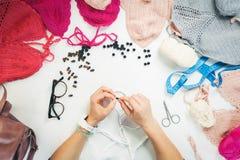 Взгляд сверху knit Стоковое Изображение RF