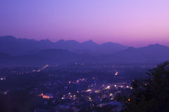 Взгляд сверху Luang Prabang, Лаоса Стоковое Фото
