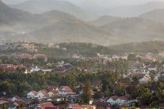 Взгляд сверху Luang Prabang от горы Phousi Стоковое фото RF