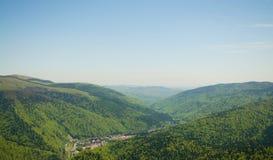 Взгляд сверху Sinaia Стоковое Фото