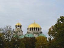 Взгляд Святого Alexandar Nevski собора Стоковое Изображение