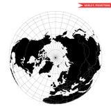 Взгляд северного полюса от космоса Стоковая Фотография