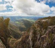 Взгляд сельской местности и Альпов от национального парка буйвола держателя Стоковое Изображение RF