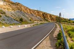 Взгляд сиротливой дороги на юге  Испании стоковое изображение rf