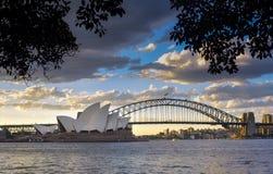 Взгляд Сидней CBD и оперный театр Стоковая Фотография RF