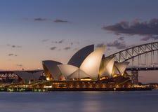 Взгляд Сидней CBD и оперный театр Стоковые Изображения