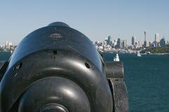 Взгляд Сиднея от залива Уотсона стоковое фото