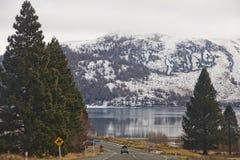 Взгляд снега плавя на Новой Зеландии Стоковые Изображения RF