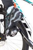 Взгляд снизу специального ботинка контакта прикрепленного к велосипеду Стоковая Фотография RF
