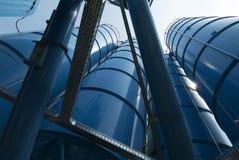 Взгляд снизу хранения силосохранилищ башни навального Стоковая Фотография