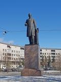 Взгляд собора Андрюа апостола Памятник к a S Popov (1859-1906), к изобретать Стоковая Фотография