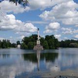 Взгляд собора Андрюа апостола Tsarskoe Selo Стоковое Фото