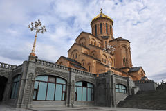 Взгляд собора Тбилиси, города Georgia Стоковое Фото