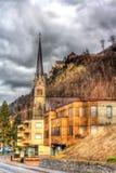 Взгляд собора флорина St в Вадуц Стоковое Изображение RF