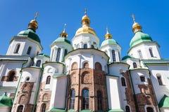 Взгляд собора Sophia Святого в городе Киева Стоковое Фото