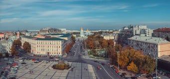 Взгляд собора St Sophia на квадрате Sophia Киев, Украин Стоковое фото RF