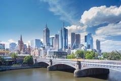 Взгляд современных зданий в Мельбурне, Австралии Стоковое Изображение
