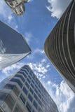 Взгляд современных небоскребов в городе Лондона Стоковая Фотография RF