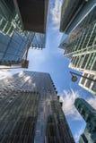 Взгляд современных небоскребов в городе Лондона Стоковые Фотографии RF