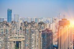 Взгляд современных районов в Китае стоковое фото